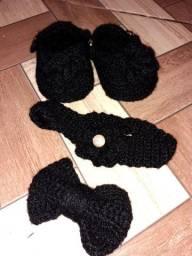 Kit bebê BlackLove em crochê