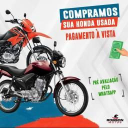 Compramos sua Moto Honda Usada ou Semi nova, pagamento a vista