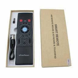 Controle Air Mouse S/ Fio Teclado P/ Tv / Receptores / SmarTV / Projetores / Notebook's