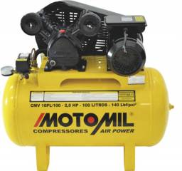 Título do anúncio: Compressor de Ar Motomil, 2 HP, 100 litros, Monofásico - CMV-10PL/100