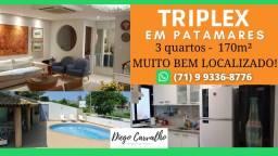 Título do anúncio: Residencial Patamares, em Patamares Casa Triplex 3 quartos, em 170m² - Oportunidade (R1)