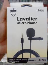 Título do anúncio: Microfone De Lapela Computador Notebook Conector P2 - Entrega Grátis