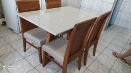 Título do anúncio: Mesa sala ou cozinha de jantar madeira e acabamento laka luxo