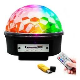 Bola Maluca Led Rgb Mp3 Projetor Holográfico Magic Ball Ligh