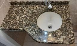 Título do anúncio: Pia de banheiro de granito + Cuba + Ralo + Sifão