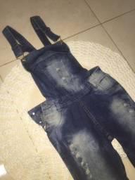 Bazar da Faby - Macacão Jeans