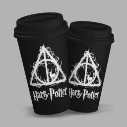 Copo Bucks Personalizado Relíquias da Morte - Harry Potter
