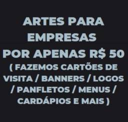 Artes para Empresas R$ 50