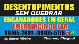 Título do anúncio: DESENTUPIMENTOS SEM QUEBRAR