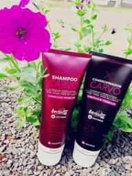 Kit Shampoo e Condicionador Carvo