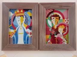 Título do anúncio: Quadros em Madeira e Imagem Impressa de Nossa Senhora e São José