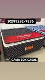 Título do anúncio: **CAMA CASAL PREMIUM FOFINHA ++ 2 TRAVESSEIRO ENTREGA GRÁTIS