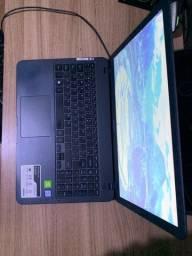 vendo notebook x50 intel core i7, 8gb, 1tb, placa de video mx 110, 6 meses de uso