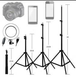 Título do anúncio: Tripé metálico p/ celular, ring light câmeras é outros