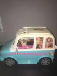 Barbie Carro Família Bichinho Pupp Trailer De Pets Mattel