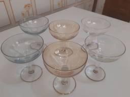 Taças Antigas de Cristal - Champanhe - 6 unidades