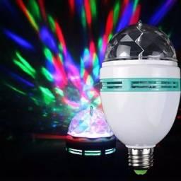 Lampada led giratória jogo de luz