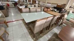 Título do anúncio: Mesa nova completa pronta entrega de jantar madeira e acabamento laka