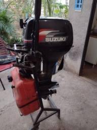 Título do anúncio: Motor de popa 15 Hp Suzuki 2008 revisado