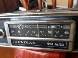 Rádio motoradio 3 faixas opala Kombi fusca Brasília