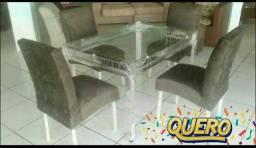 Mesa 4 cadeiras (direto da fábrica)oi985765329