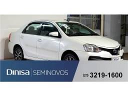 Toyota Etios 1.5 platinum sedan 16v flex 4p automático - 2018
