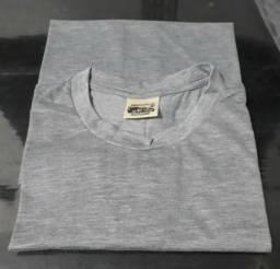 Camiseta Cinza Mescla Lisa PV