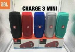 Caixas JBL Charge 3 Mini / Bluetooth, FM e Cartão - c/ serviço de entrega