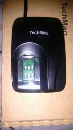 Leitor biométrico techmag fs 80 nunca foi usado.