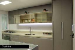 Lindo 03 dorms (01 suíte) semi-mobiliado, 116 m² privativos, 02 vagas