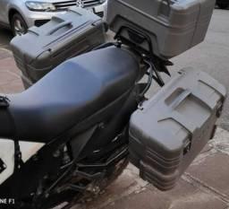 Baú bauletos laterais KTM adventure 990 com suporte
