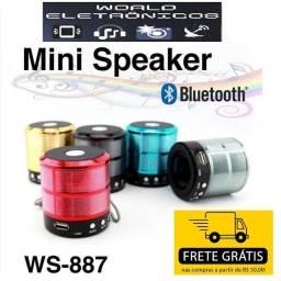 Caixinha De Som Ws 887 Som De Qualidade Rádio Fm Bluetooth