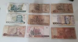 Notas Dinheiro ANTIGAS