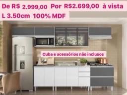 Cozinha completa nova 100% MDF branco com chumbo