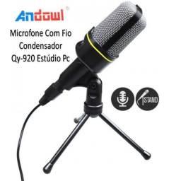 Título do anúncio: Microfone Com Fio Condensador Qy-920 estúdio Pc Jogos