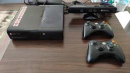 Xbox 360 Original completo C/ 2 controles + Knect + 10 jogos originais