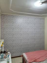 Aplicamos papel de parede