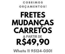 Título do anúncio: Carreto frete Mudança São Bernardo Santo André São Caetano São Paulo Mauá Diadema