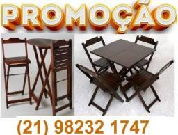 Mesas e cadeiras Dobráveis de madeira fabricamos e entregamos