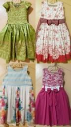 Título do anúncio: Lote de vestidos Menina 5 a 8anos