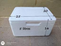 Kit Caixa de Isopor 5 litros + 2 Gelo Gel