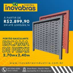 Título do anúncio: Portão de Elevação Basculante Escama de Peixe 2,70 m x 2,40 m