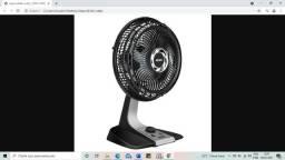 Ventilador Arno Silence Force VF30 - Preto/Prata