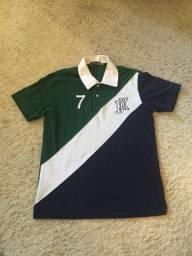 Camisa Polo By Kim Original Tamanho M Verde / Azul Impecável Novíssima Pouco Usada!