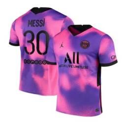Título do anúncio: Camisa PSG rosa ( apenas entrega)