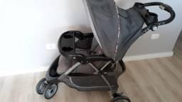 Título do anúncio: Carrinho de bebê + bebê conforto e base para carro