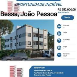 Título do anúncio: Apartamento para Venda em João Pessoa, Bessa, 3 dormitórios, 1 suíte, 1 banheiro, 1 vaga