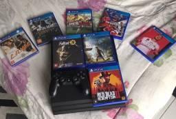 Título do anúncio: PS4 PRO - Seminovo - com 8 jogos