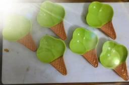 Título do anúncio: Compotas de sorvete 21cm de louça. 100.00