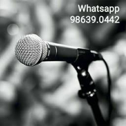 Microfone Profissional M58 + com cabo 5m (Novo, aceito cartão)